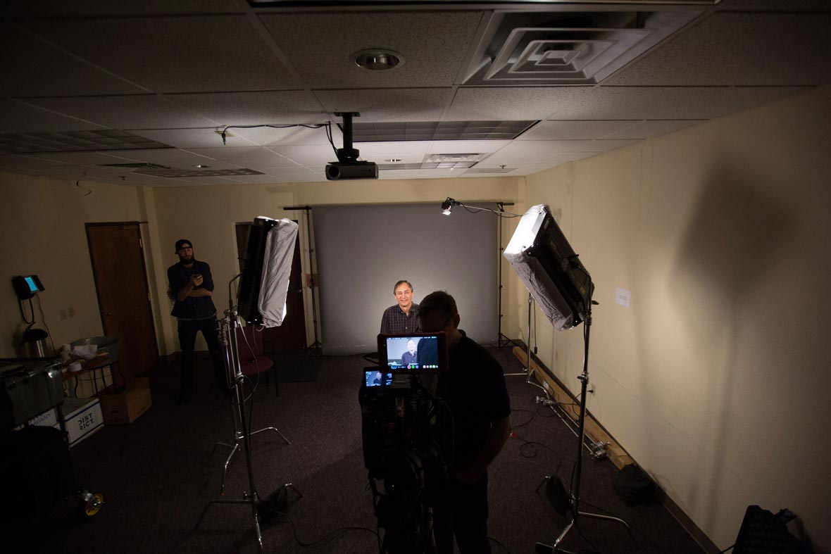 behind the scenes filming Airefco interviews