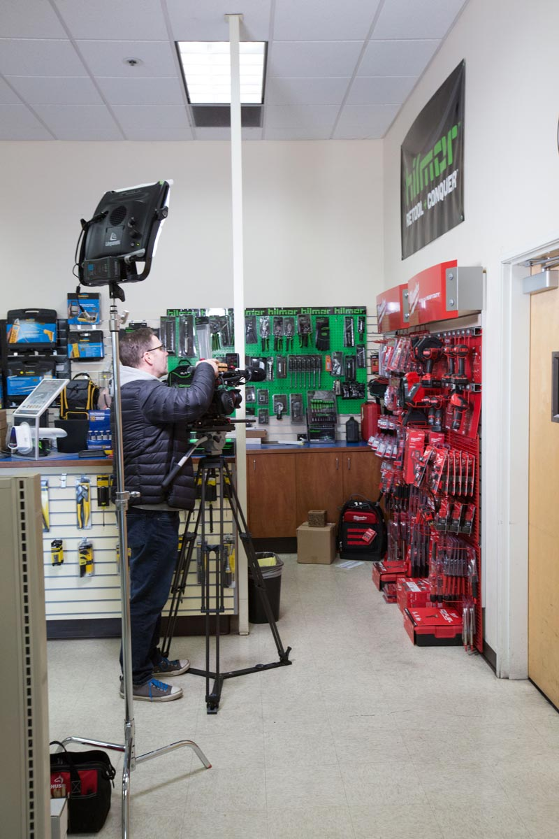 Airefco behind the scenes filming in store