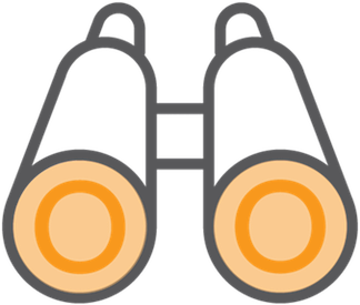 branding binoculars icon