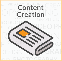 content creation clickable icon linked to content creation service page