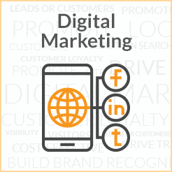 digital marketing clickable button linked to digital marketing page