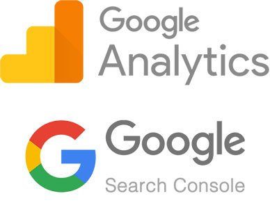 google analytics and google search console icons
