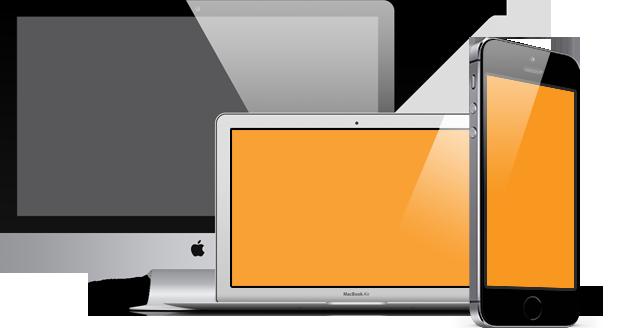 desktop laptop and mobile phone
