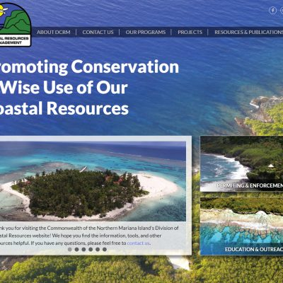 Northern Mariana Island's Division of Coastal Resources website homepage