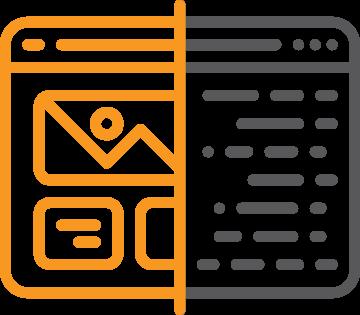 outside communications web development icon